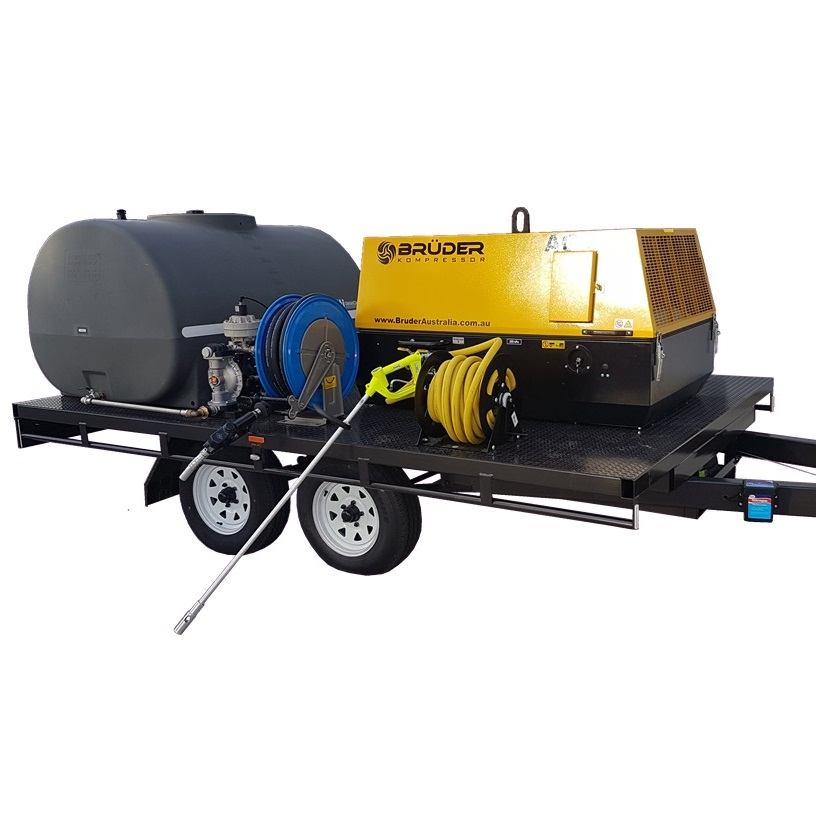 Lube Cube for farmers; diesel, grease and compressed air in one trailer